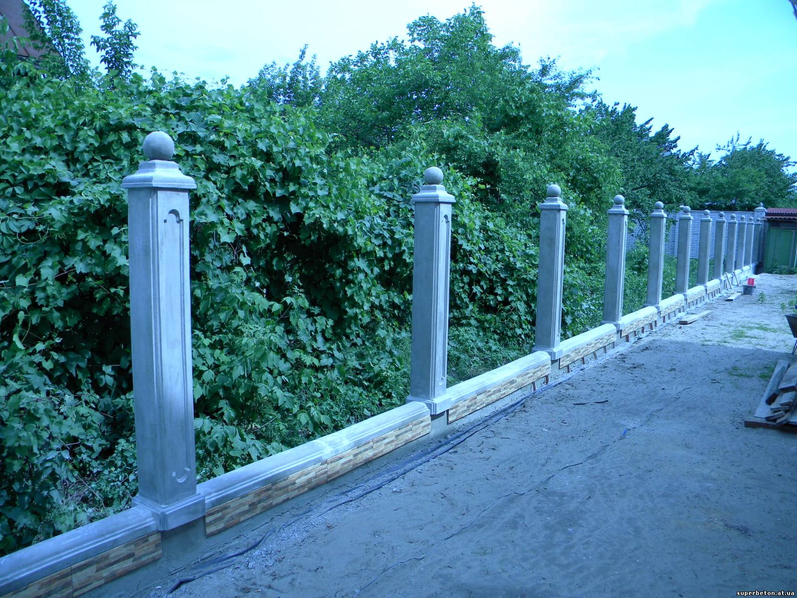 Изготовление бетонных столбов для забора своими руками. Как 3