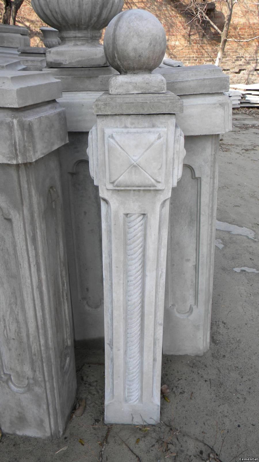 Крышка на столб забора бетонные своими руками